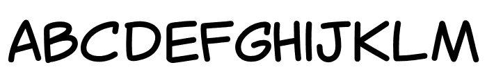 Canted Comic Font LOWERCASE