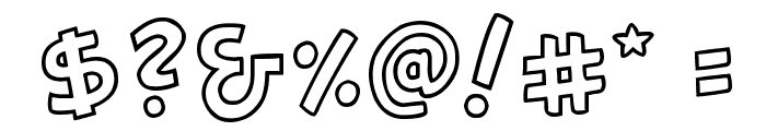 Canted FX Regular Font OTHER CHARS