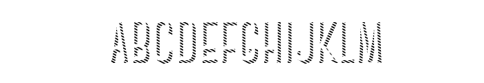 CanterBoldStrips Font LOWERCASE