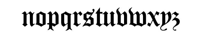 Canterbury Regular Font LOWERCASE