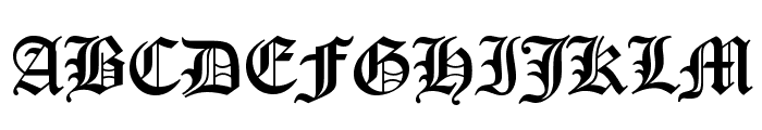 Canterbury Font UPPERCASE
