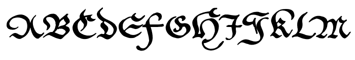CantzleyAD1600 Font UPPERCASE