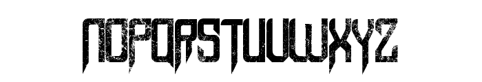 Capella (Rock) III Bold Font LOWERCASE