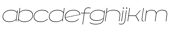 Capoon PERSONAL USE Thin Italic Font LOWERCASE