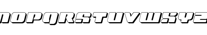 Capricus 3D Semi-Straight Font UPPERCASE