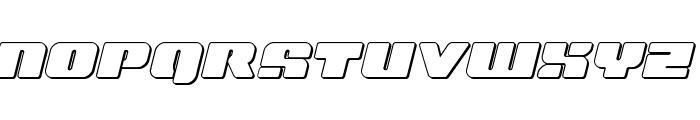 Capricus Outline Semi-Straight Font UPPERCASE