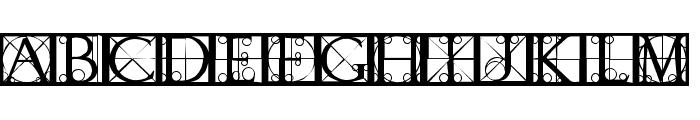 CapsRandomishBricks Font UPPERCASE