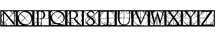 CapsRandomishBricks Font LOWERCASE
