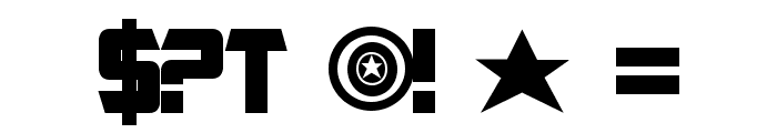 Captain America Font OTHER CHARS