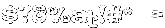 CaractereDoublet Beveled Font OTHER CHARS