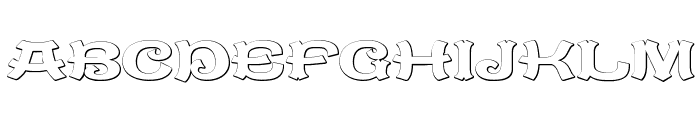 CaractereDoublet Beveled Font UPPERCASE
