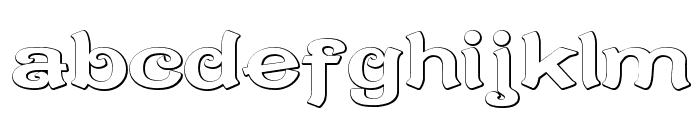 CaractereDoublet Beveled Font LOWERCASE