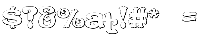 CaractereDoubletBeveled Font OTHER CHARS