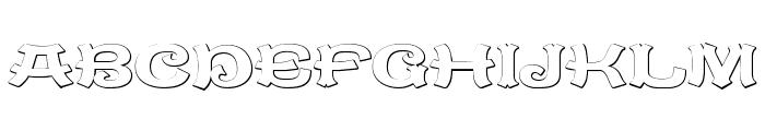 CaractereDoubletBeveled Font UPPERCASE