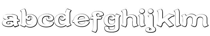CaractereDoubletBeveled Font LOWERCASE
