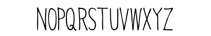 Caramel_condenced Regular Font UPPERCASE