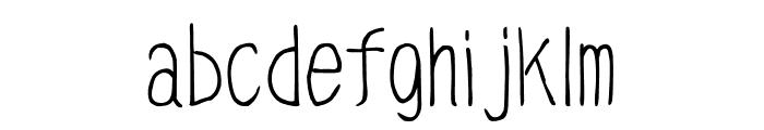 Caramel_condenced Regular Font LOWERCASE