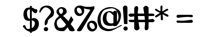 Caraway Regular Font OTHER CHARS