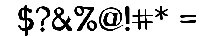 CarawayBold Font OTHER CHARS