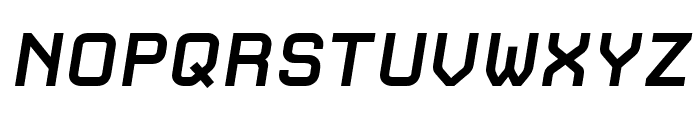 CarbonBold Italic W00 Regular Font UPPERCASE