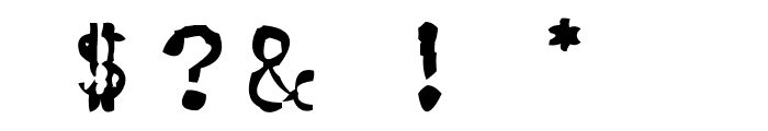 CarbonType Font OTHER CHARS