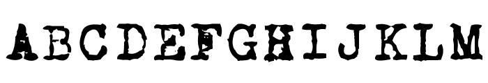 CarbonType Font UPPERCASE