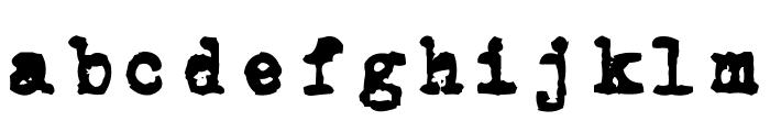 CarbonType Font LOWERCASE