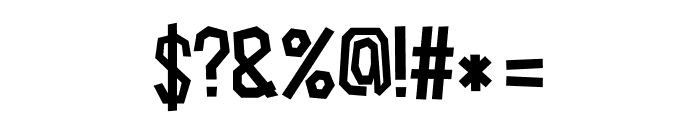 Cardboard-Cutout Font OTHER CHARS