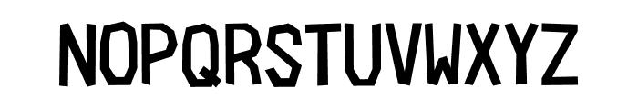 Cardboard-Cutout Font UPPERCASE