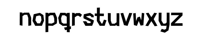 Cardboard-Cutout Font LOWERCASE