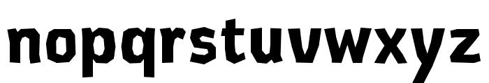 CardboardCat Bold Font LOWERCASE