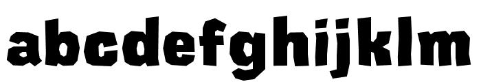 CardboardCat Extra Bold Font LOWERCASE