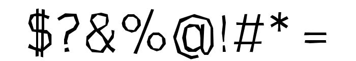 CardboardCat Light Font OTHER CHARS