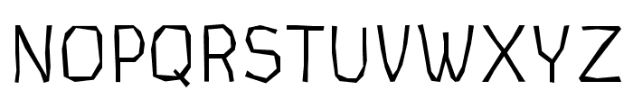 CardboardCat Light Font UPPERCASE