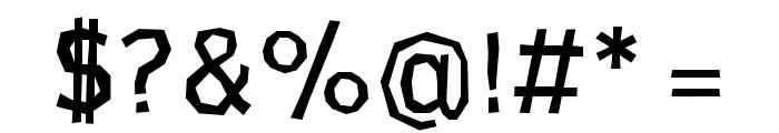 CardboardCat Regular Font OTHER CHARS