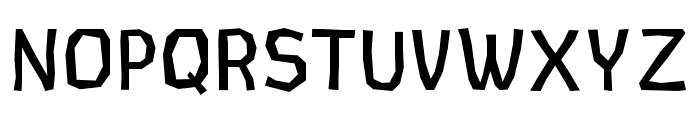 CardboardCat Regular Font UPPERCASE