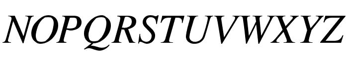 Cardiff Italic Font UPPERCASE