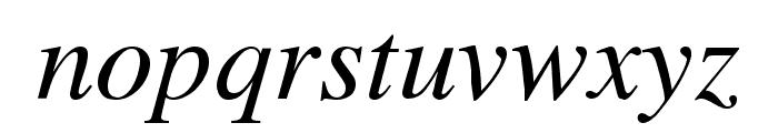 Cardiff Italic Font LOWERCASE