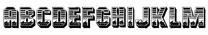 Cardiff Font UPPERCASE