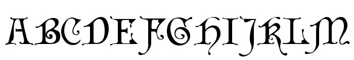 Cardinal Regular Font UPPERCASE