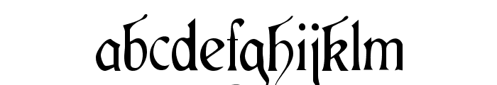 Cardinal Regular Font LOWERCASE