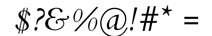 Cardo Italic Font OTHER CHARS
