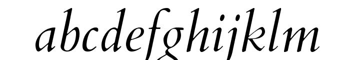 Cardo Italic Font LOWERCASE