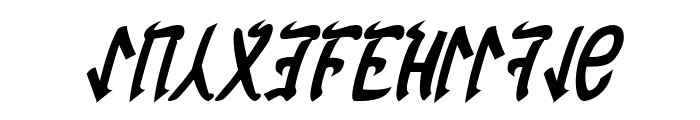 Cardosan Bold Italic Font UPPERCASE