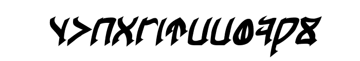 Cardosan Bold Italic Font LOWERCASE