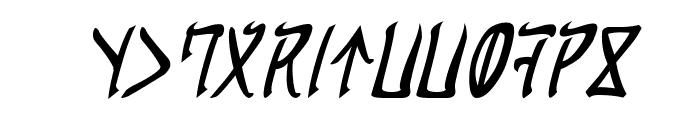 Cardosan Italic Font UPPERCASE