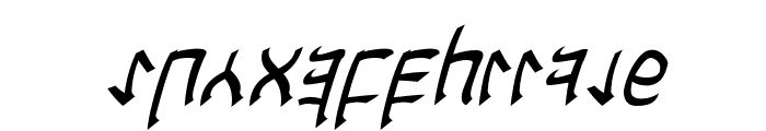 Cardosan Italic Font LOWERCASE