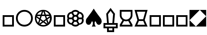 Cards Font LOWERCASE