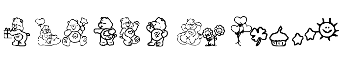 CarebearsbyIacy Font LOWERCASE