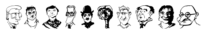 CaricaturesHeads Font OTHER CHARS
